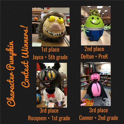 Character Pumpkin Winners