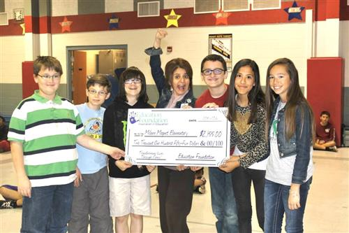 Milam Magnet Grant Check