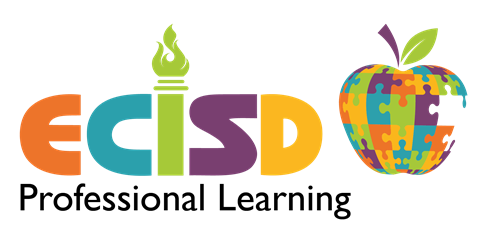 ECISD Professional Learning logo with apple made of puzzle pieces