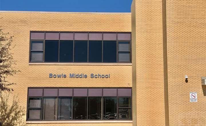 Bowie Middle School building