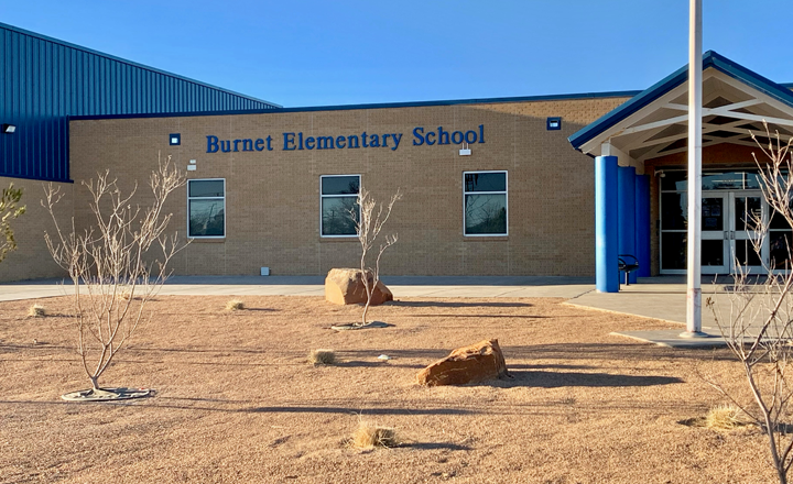 Burnet Elementary School Entrance