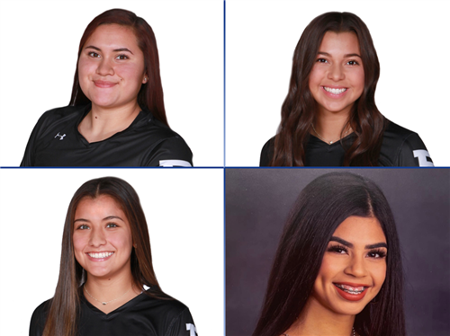 The four girls honored for Academic All-State