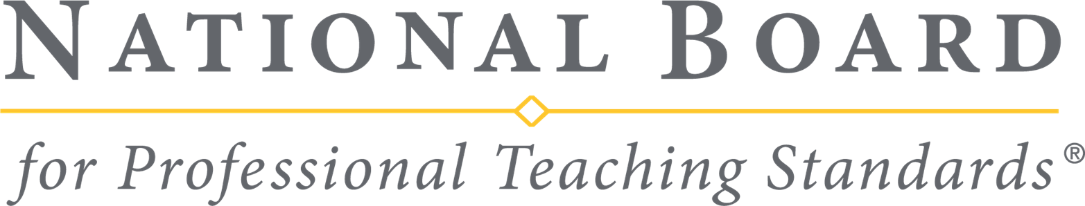 the logo with the words National Board for Professional Teaching Standards