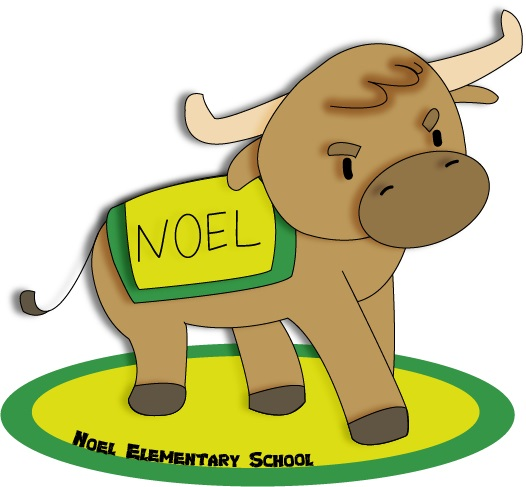 Noel logo - yellow & green, longhorn with Noel blanket on it