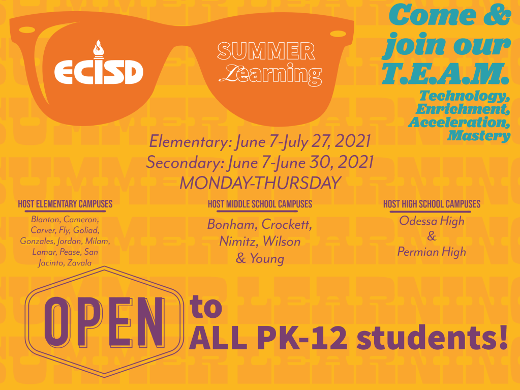 Ecisd Calendar 2022.Ector County Independent School District Homepage