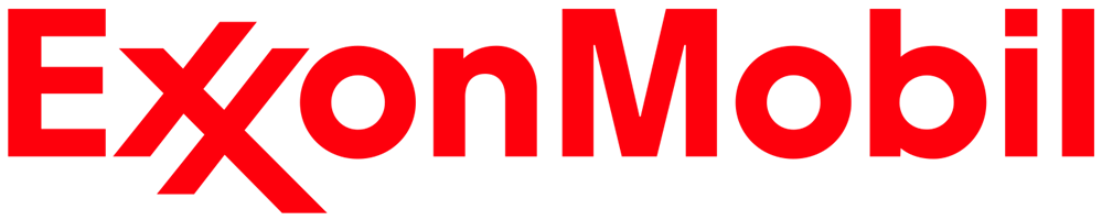 exxon logo in red letters